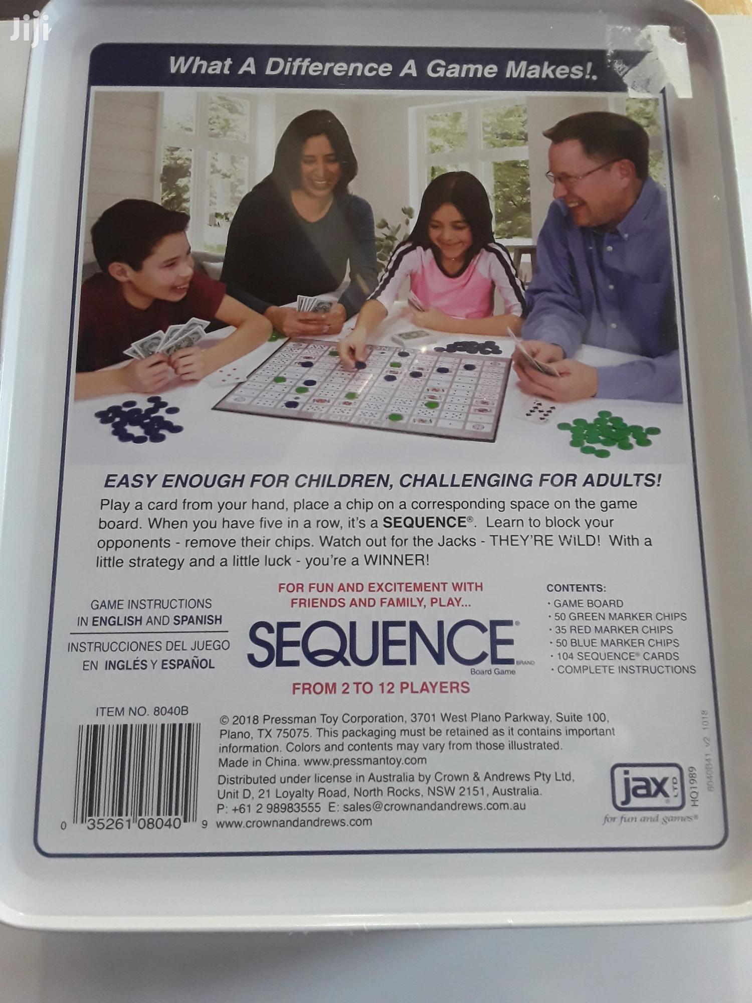 Archive: Sequence Game