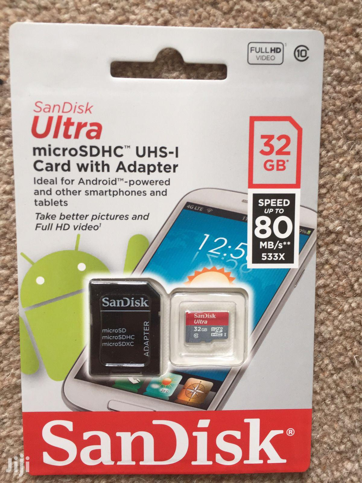 """Sandisk Ultra SD Card 32GB """"Class10""""   Accessories for Mobile Phones & Tablets for sale in Ga East Municipal, Greater Accra, Ghana"""