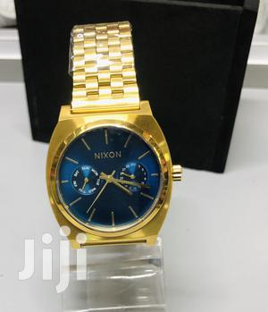 Nixon Time Teller Deluxe Gold and Blue Face