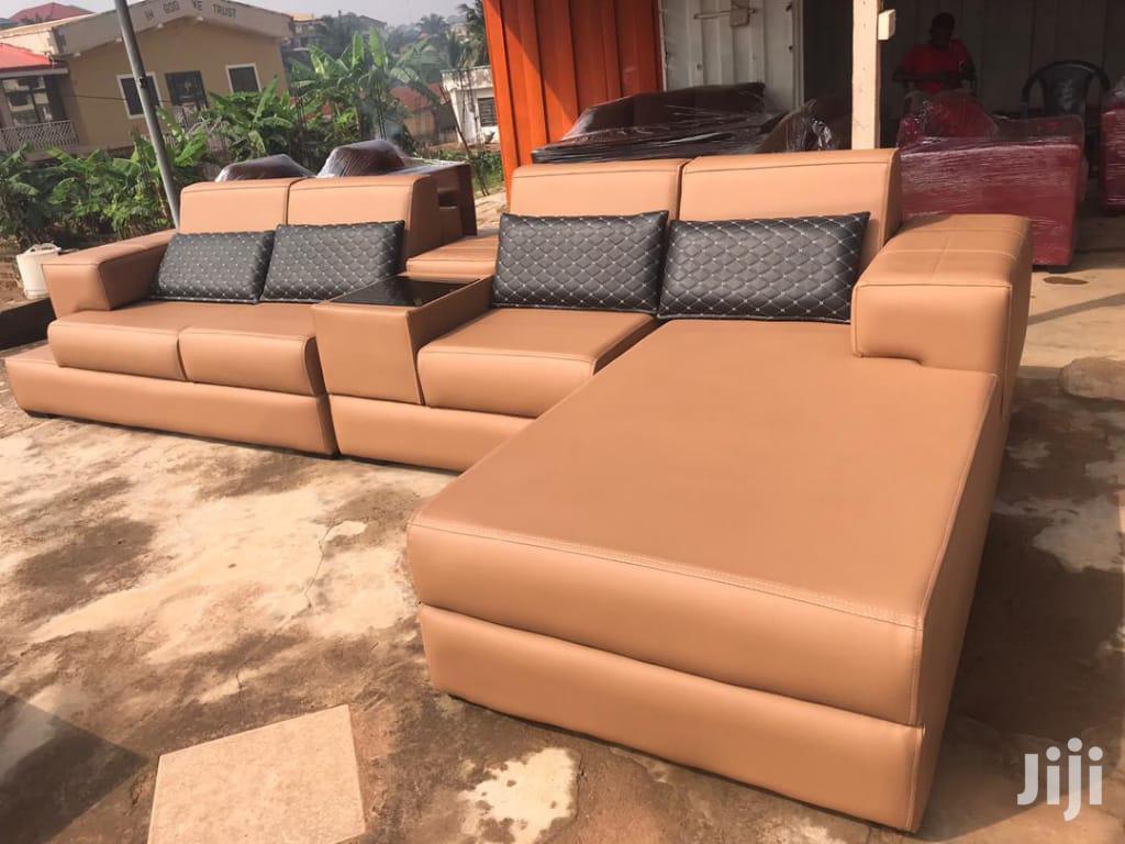 Archive: L Shape Leather Sofa Set