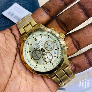 Seiko Chronograph Yellow Gold Watch