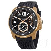 Cartier Calibre Diver Black Dial Rubber Strap | Watches for sale in Greater Accra, North Dzorwulu