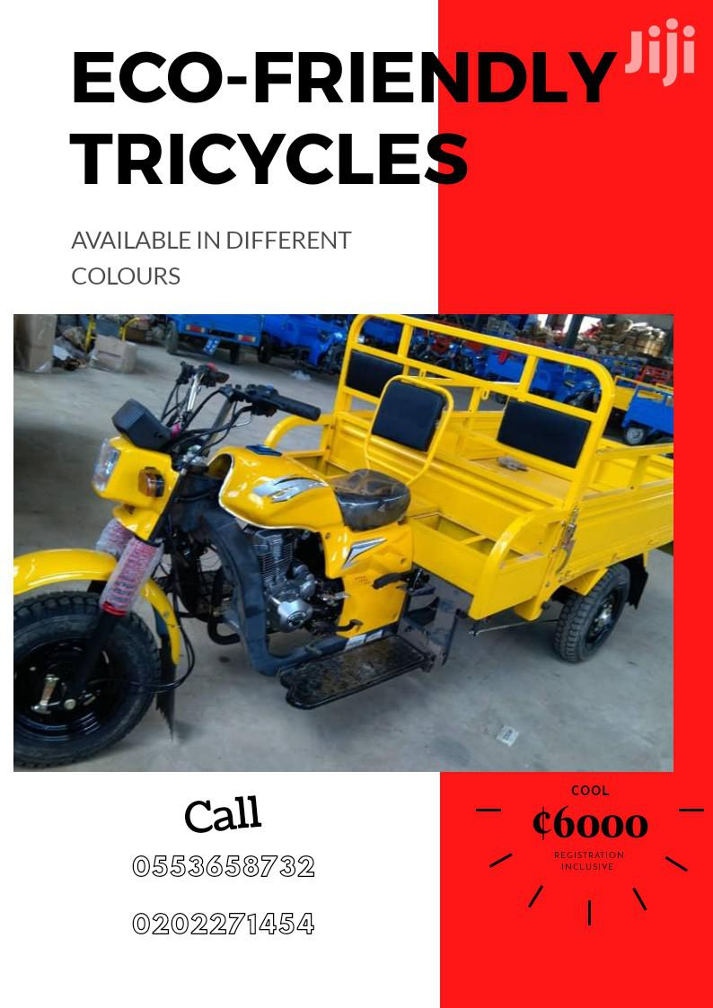 New Tricycle Ihemas 2018 Yellow | Motorcycles & Scooters for sale in Achimota, Greater Accra, Ghana