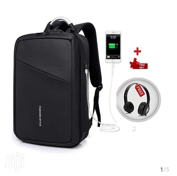 Ant Theft Laptop Bag With Free Headset