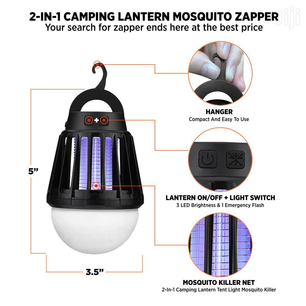 2-IN-1 Rechargeable Lamp + Outdoor Mosquito Zapper