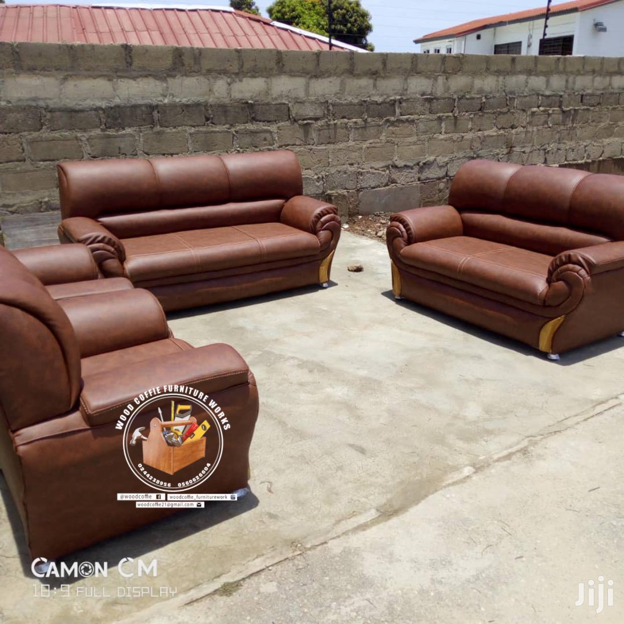 Quality Leather Room Sofa Set
