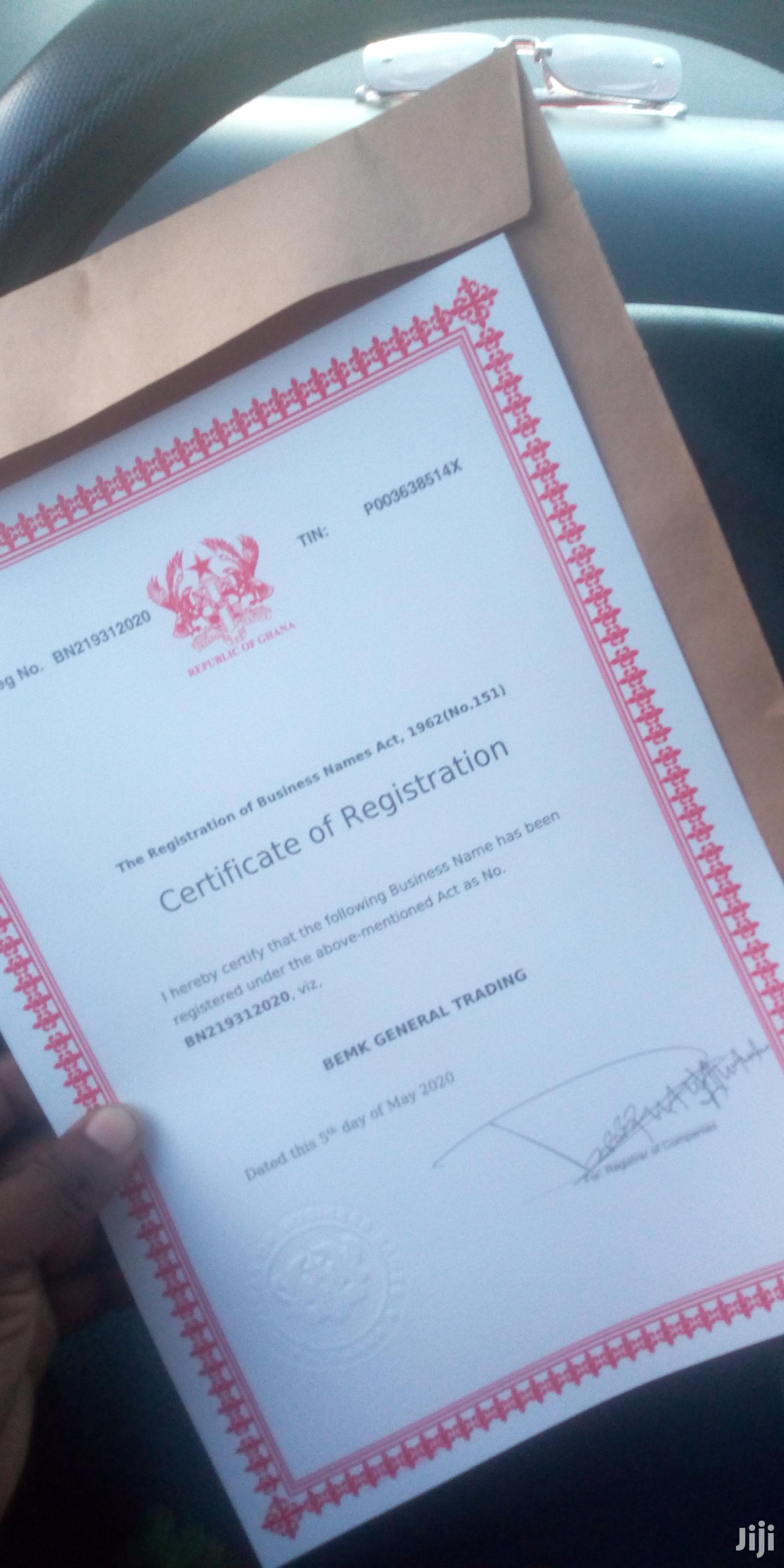 Archive: Business Registration Certificates