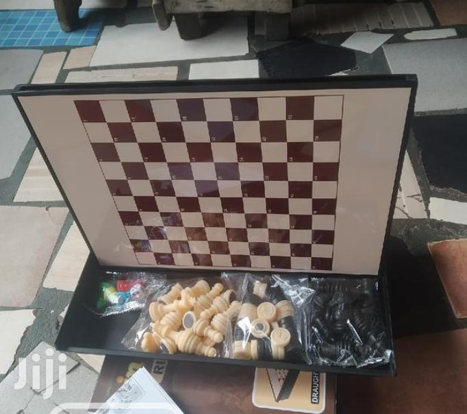 Archive: 3 In 1 Magnetic Chess Draught And Ludu Board Game