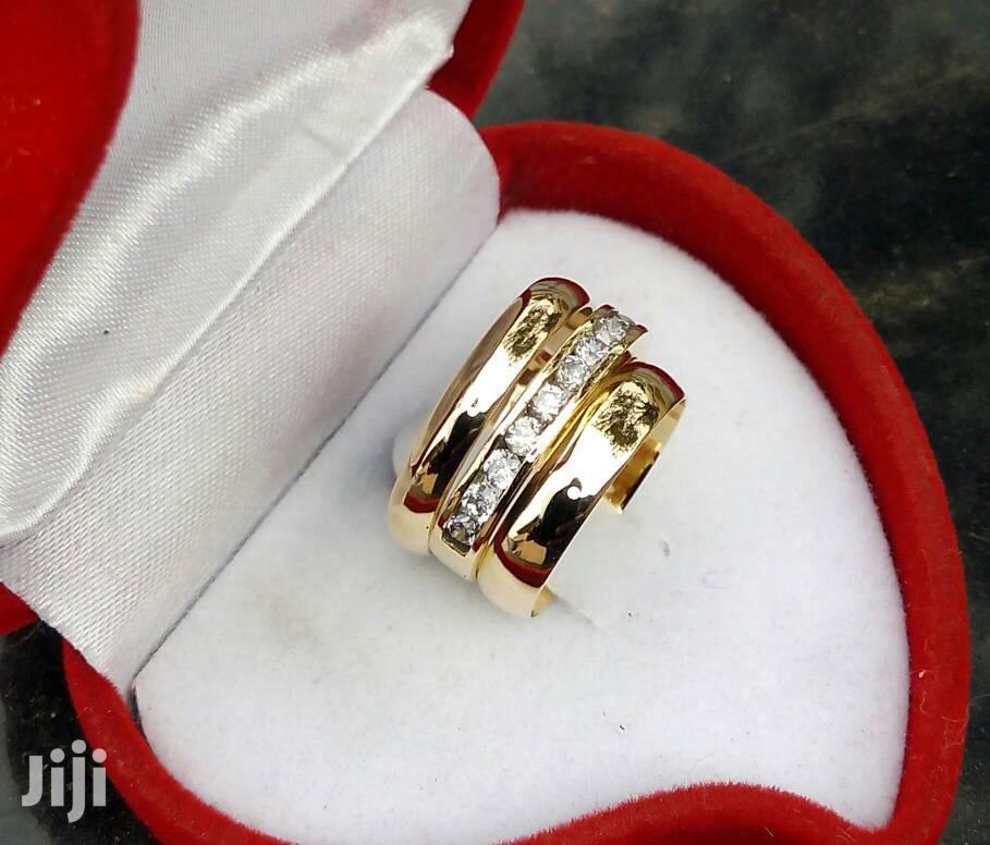 Brass Wedding Ring 3 Set