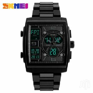 Skmei Stainless Steel Digital Wrist Watch