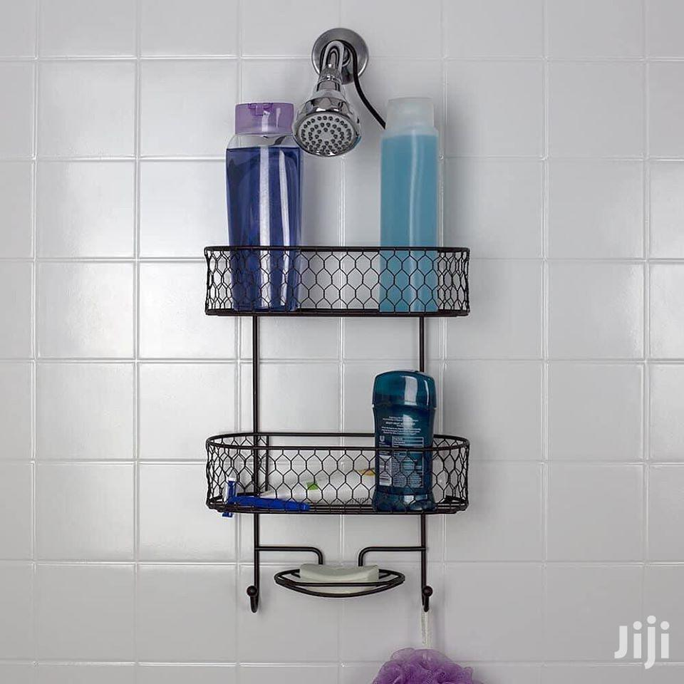 Shower Caddy With Built-in Hooks