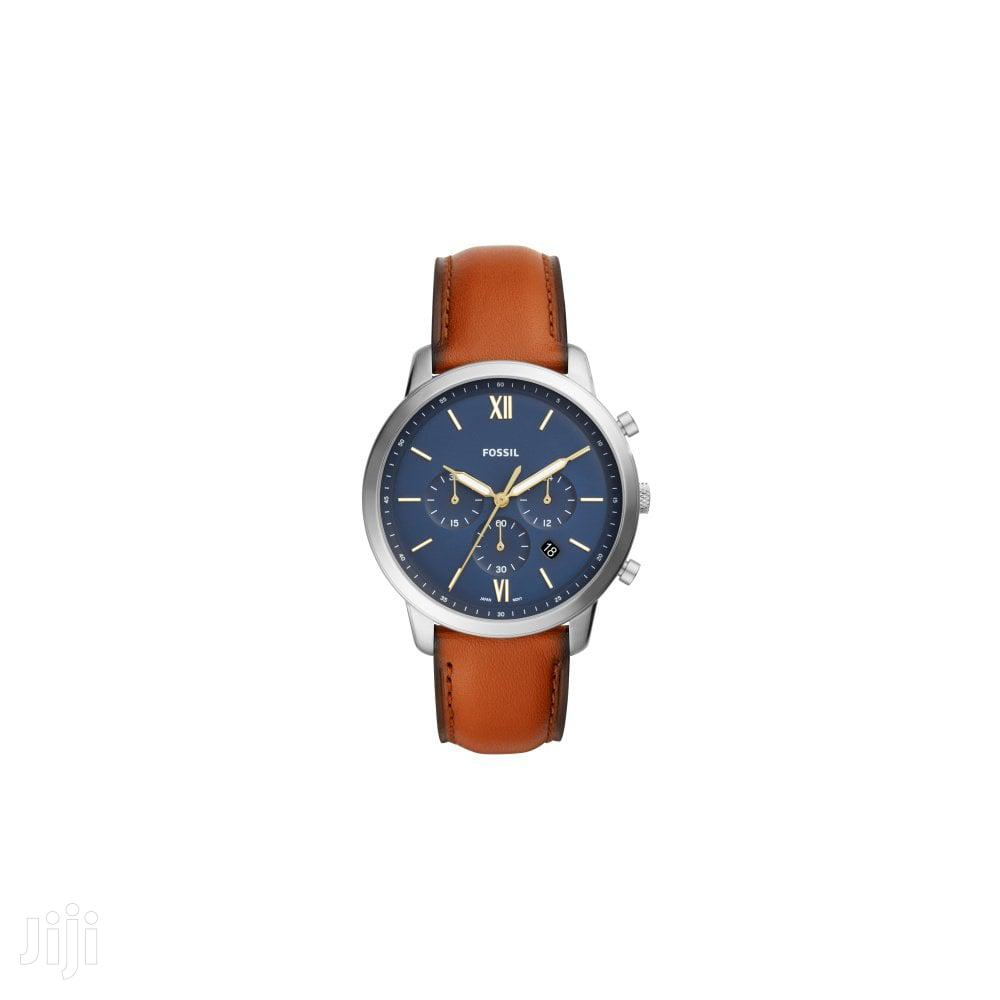 Men's Fossil Neutra Brown Strap Chronograph Watch