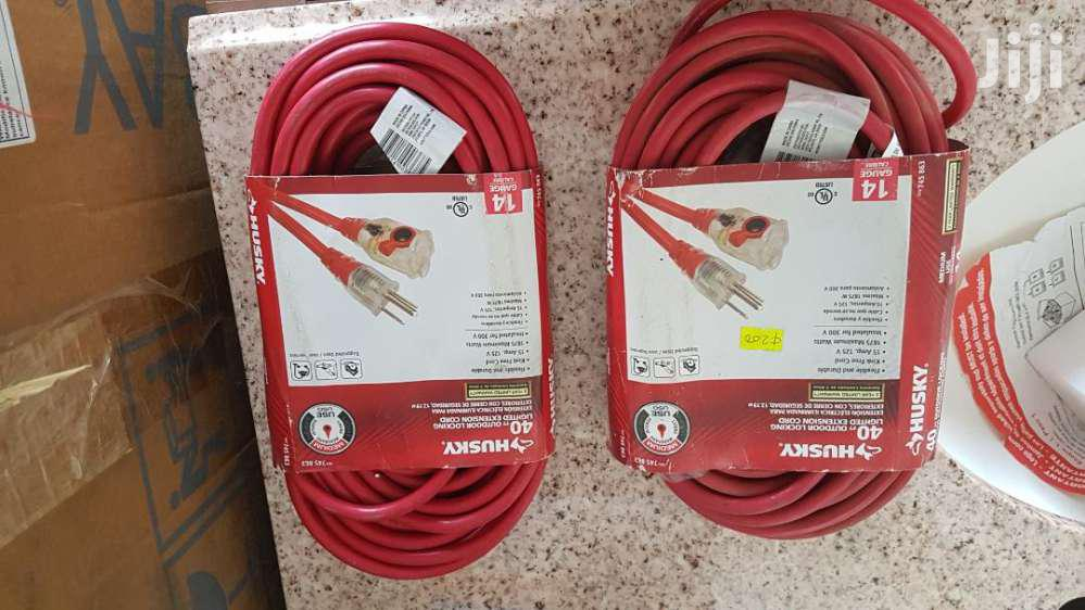 Husky Cord - 40ft Outdoor Locking Lighted Extension Cord | Accessories & Supplies for Electronics for sale in Accra Metropolitan, Greater Accra, Ghana