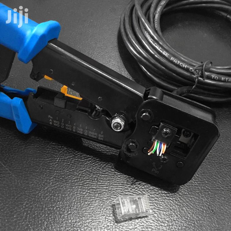 RJ45 Crimp Tool Cat5 Cat5e Cat6 Crimping Tool For RJ45/RJ12 | Hand Tools for sale in Dzorwulu, Greater Accra, Ghana
