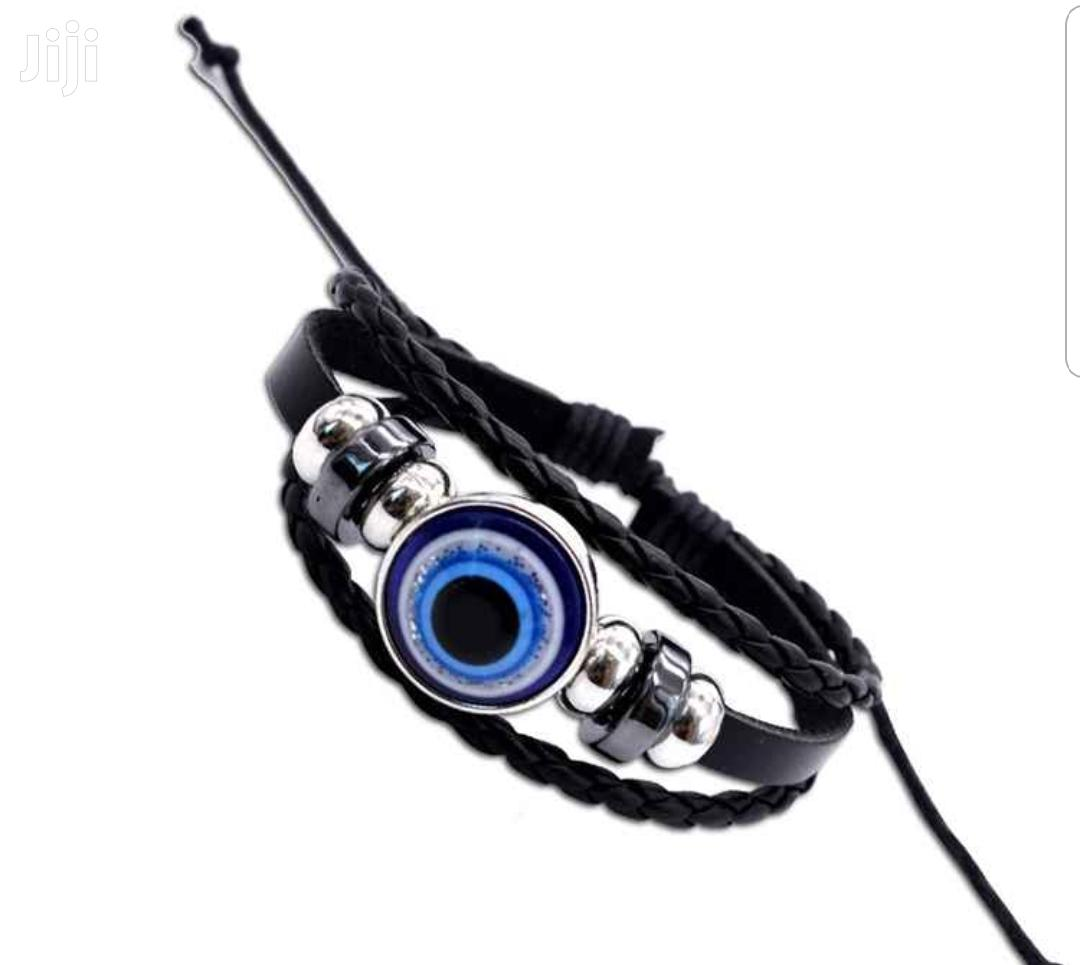 Blue Eye Leather Bracelet | Jewelry for sale in Tema Metropolitan, Greater Accra, Ghana