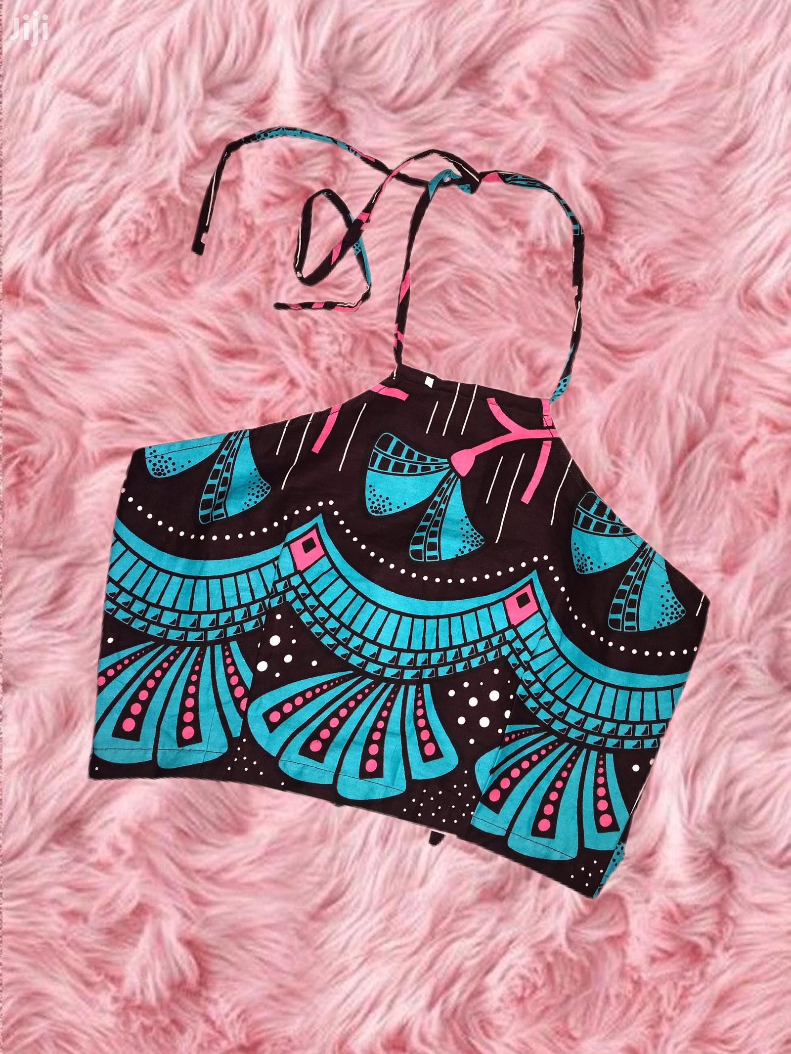 African Print Crop Top   Clothing for sale in Achimota, Greater Accra, Ghana