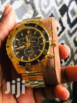 Gold Invicta Divers Watch