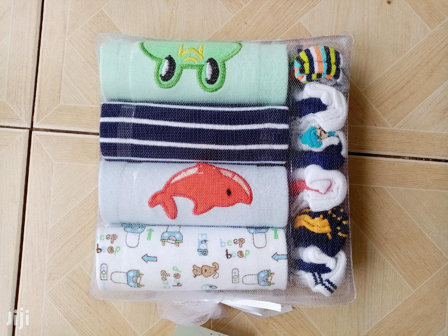 4 In 1 Body Suits With 6 Pairs Matching Socks | Children's Clothing for sale in Kwashieman, Greater Accra, Ghana