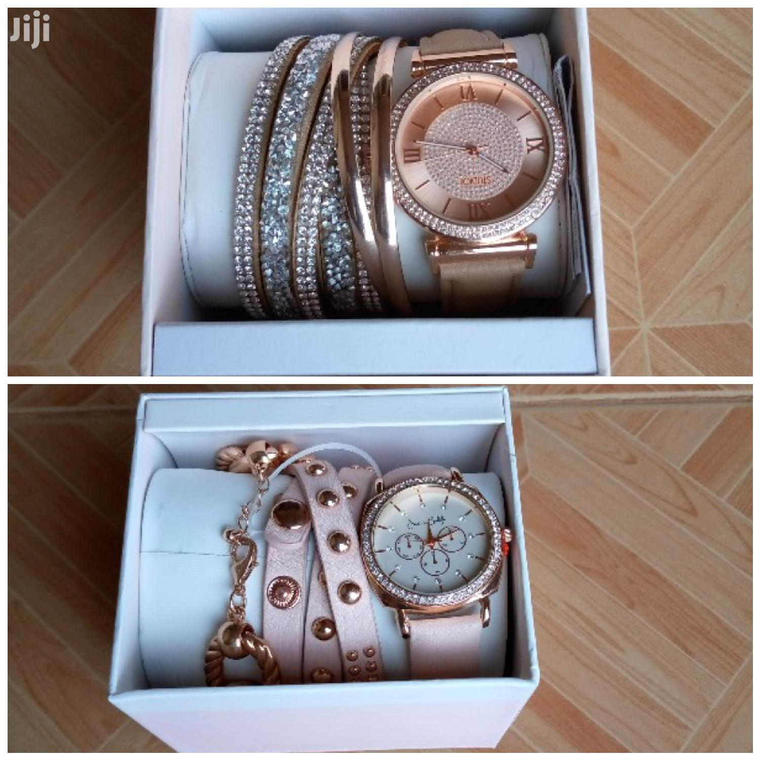Ladies Watch With Bangles and Bracelet