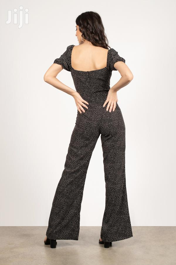 Natty Black Multi Polka Dot Wide Leg Jumpsuit | Clothing for sale in Achimota, Greater Accra, Ghana