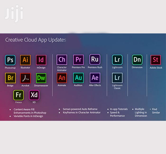 Adobe Master Creative Cloud Collection 2020 | Creativity One Package | Software for sale in Kumasi Metropolitan, Ashanti, Ghana