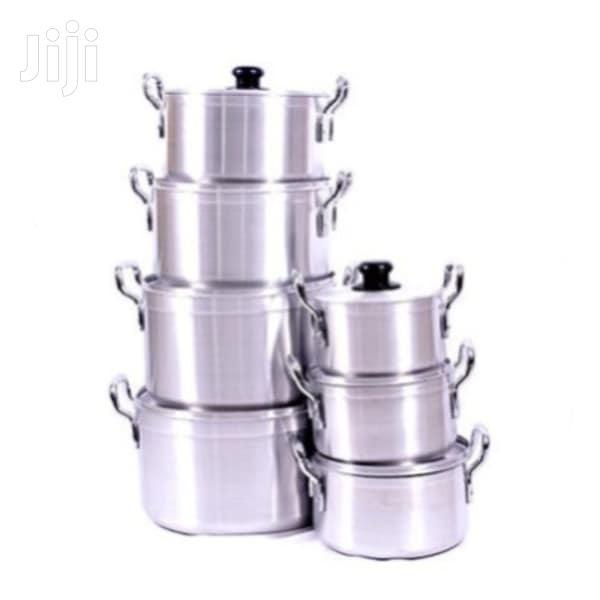 Aluminium Utensils - 7 Set Silver