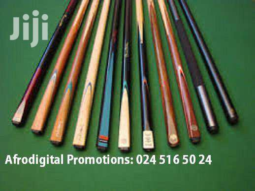 POOL / SNOOKER CUE STICKS For Sale   Sports Equipment for sale in Teshie-Nungua Estates, Greater Accra, Ghana