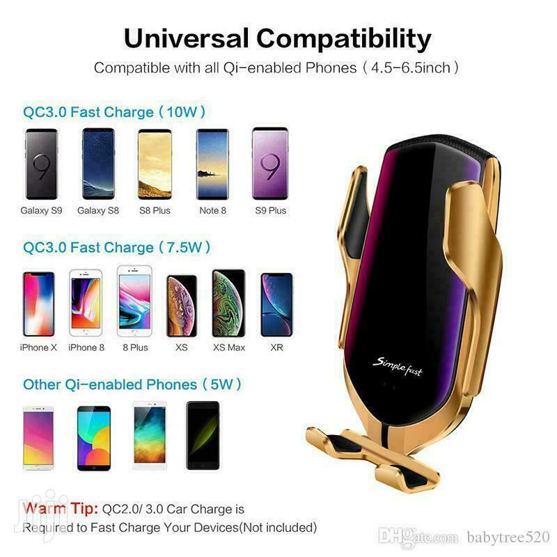 Wireless Charger & Phone Holder:2-in-1 | Accessories for Mobile Phones & Tablets for sale in Accra Metropolitan, Greater Accra, Ghana