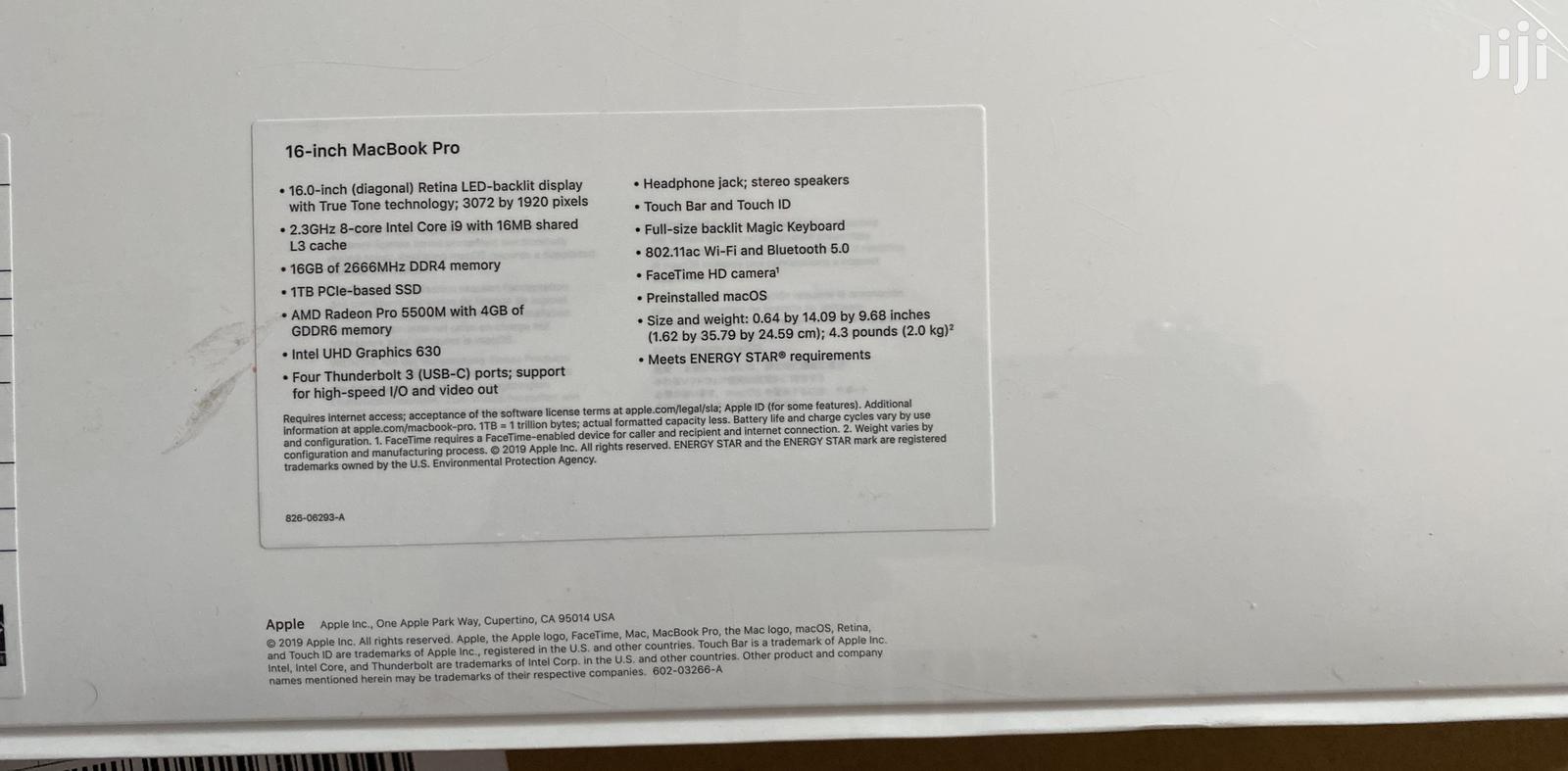 Archive: New Laptop Apple MacBook Pro 16GB Intel Core I9 1T