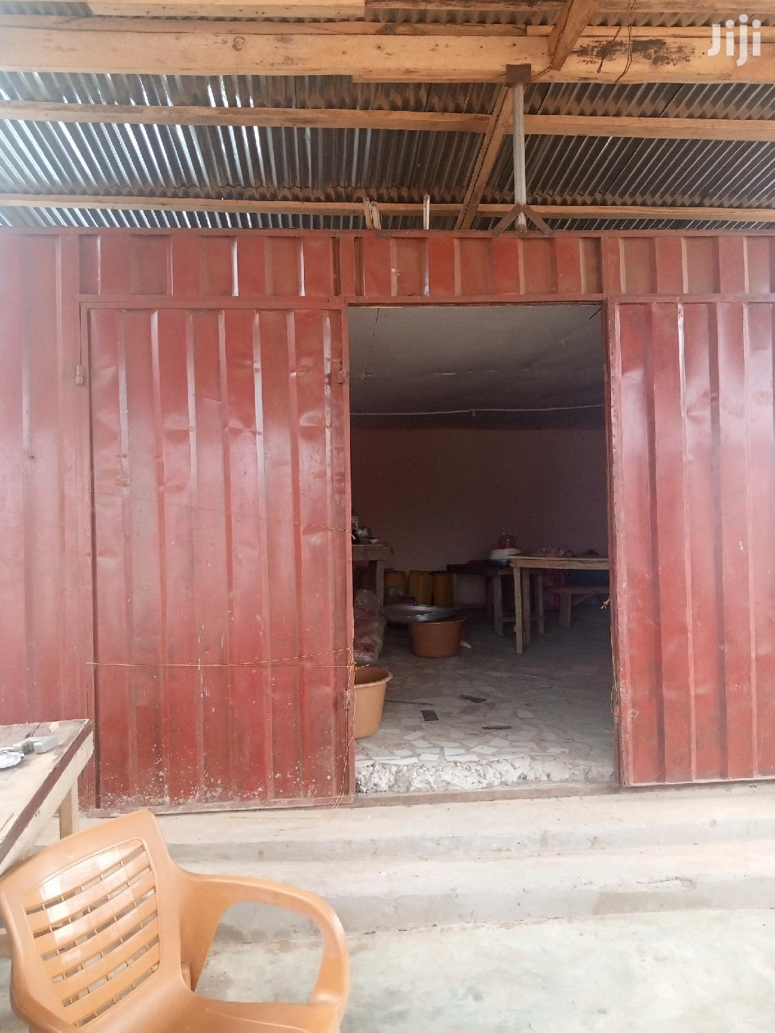 40×15 Feet Land With Shop For Sale At Ashaiman Market