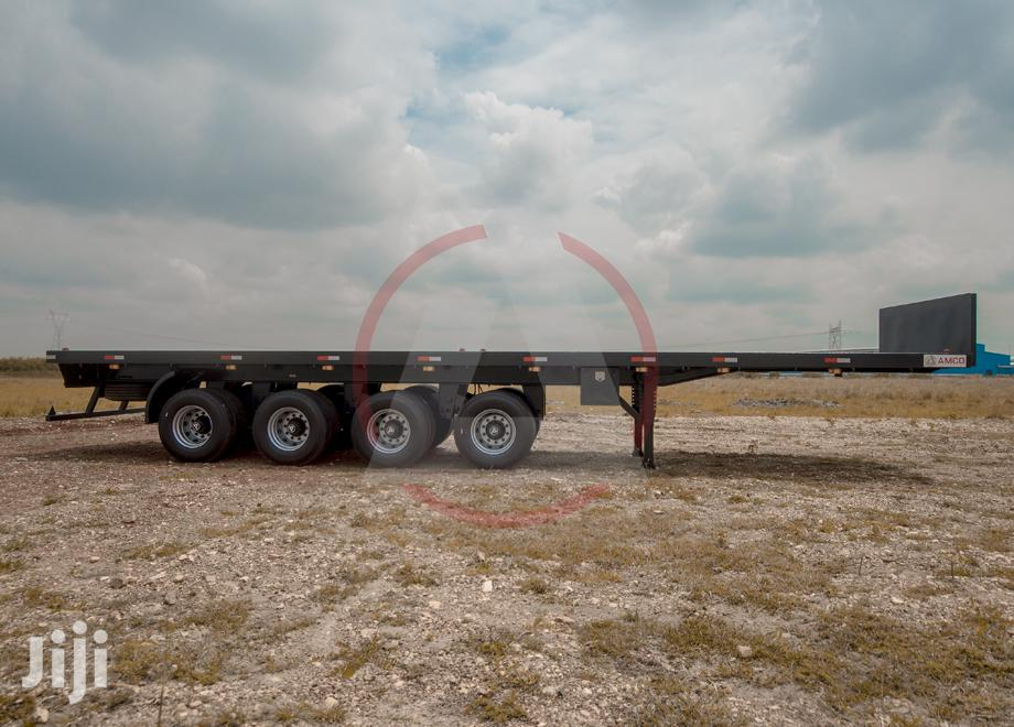 Flat Bed Semi Trailer 40ft, 70T With 4 Axles