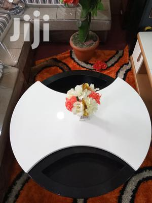 Rotating Black and White Center Table