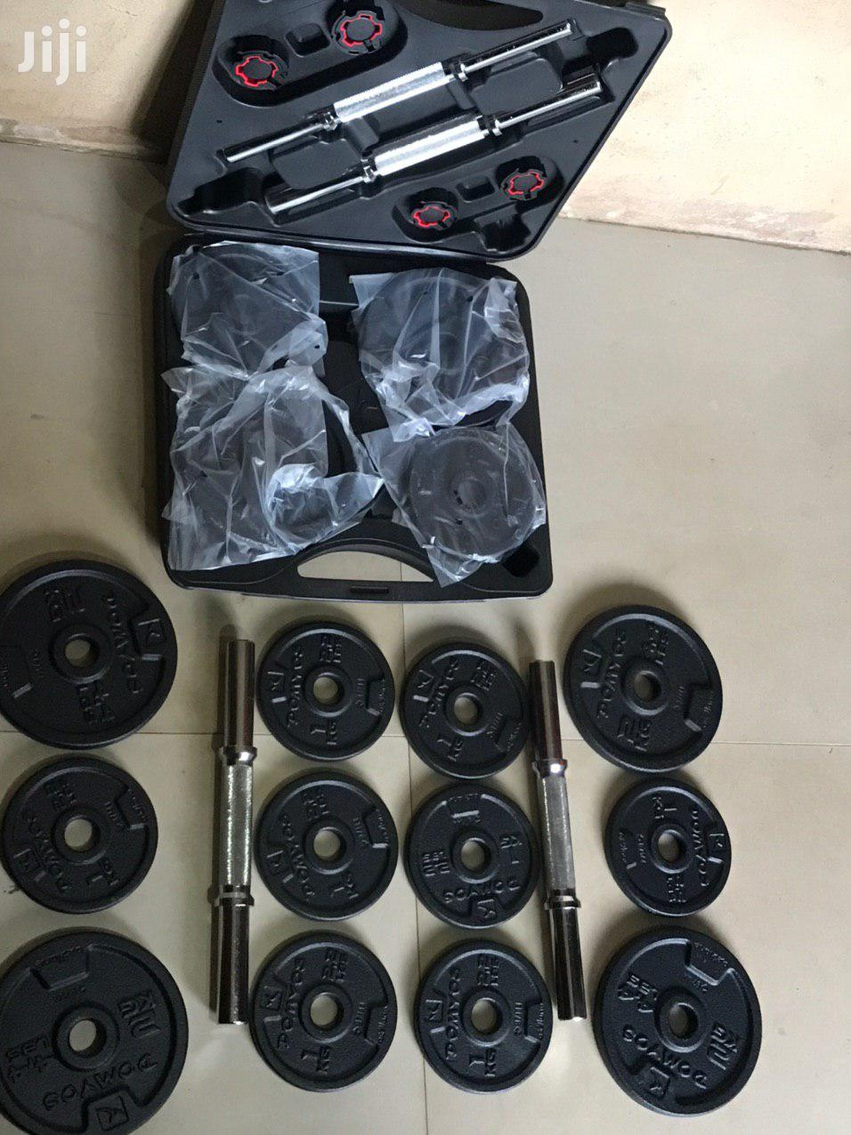 Dumbell 20kg Set Adjustable | Sports Equipment for sale in Accra Metropolitan, Greater Accra, Ghana