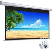 Electronic 213 X 213 Cm Projector Screen | TV & DVD Equipment for sale in Greater Accra, Achimota