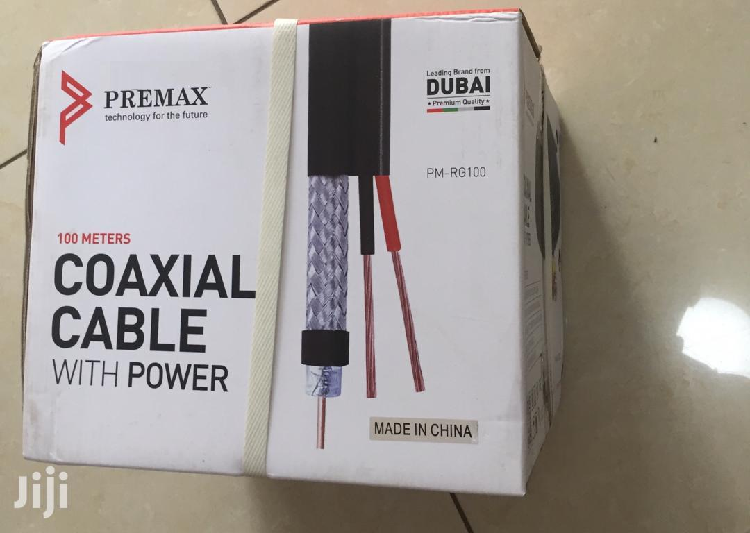 Coaxial Cable With Power 100 Meters