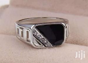 Men's Silver Plated Fashion Black Rhinestone Crystal Ring   Jewelry for sale in Greater Accra, Adenta