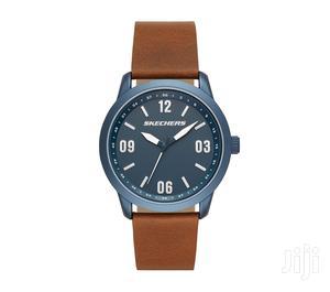 Skechers Men's Quartz Watch, Leather Strap