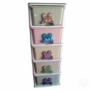 Plastic Baby Wardrobe - 5 In 1 - Multicolour
