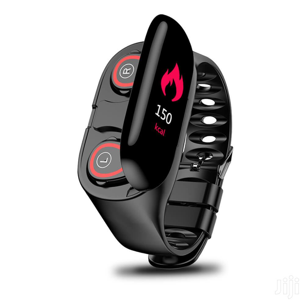 M1 Bluetooth Smart Bracelet With TWS Sports Earbuds 2 In 1 | Smart Watches & Trackers for sale in South Labadi, Greater Accra, Ghana