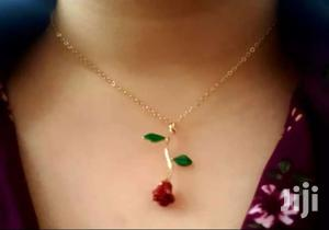 Ellegant Gold Rose Flower Chain Necklace and Bracelet Set   Jewelry for sale in Greater Accra, Adenta