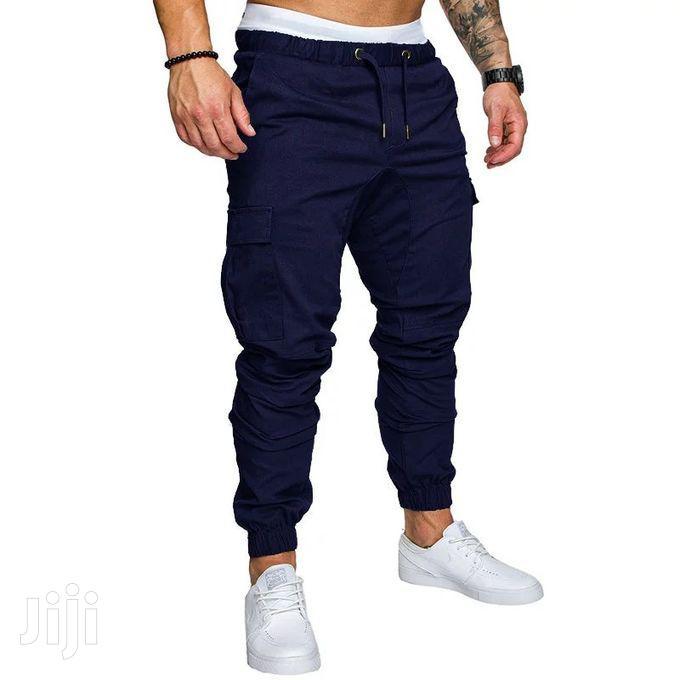 Cotton Jogger Pant - Navy Blue