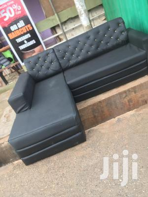 Leather L Shape Sofa at Affordable Price With Free Delivery | Furniture for sale in Greater Accra, Cantonments