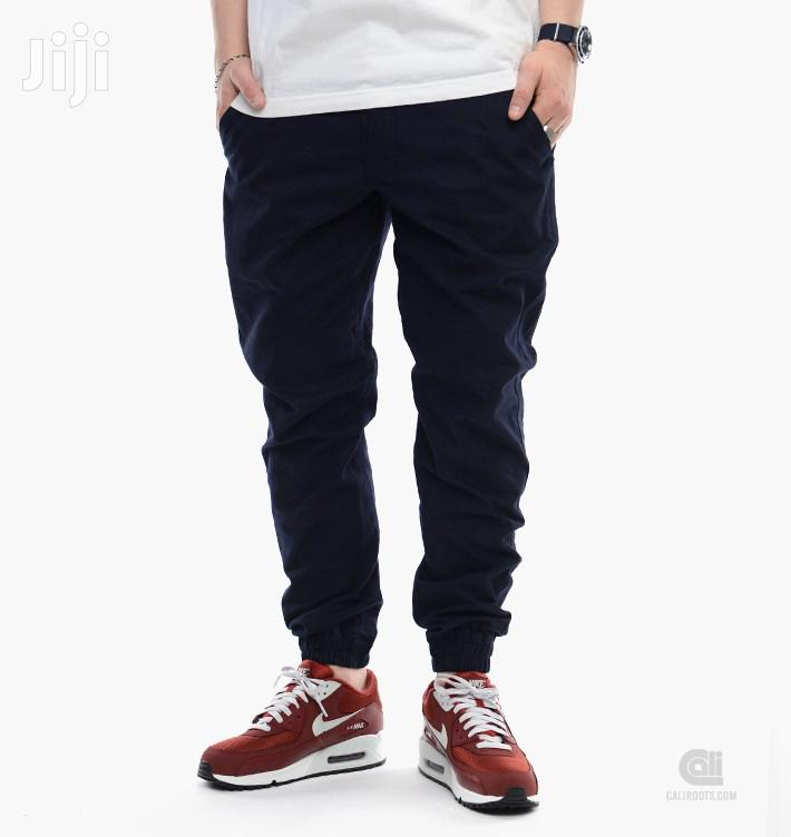 Cotton Jogger Pant - Navy Blue | Clothing for sale in Ledzokuku-Krowor, Greater Accra, Ghana