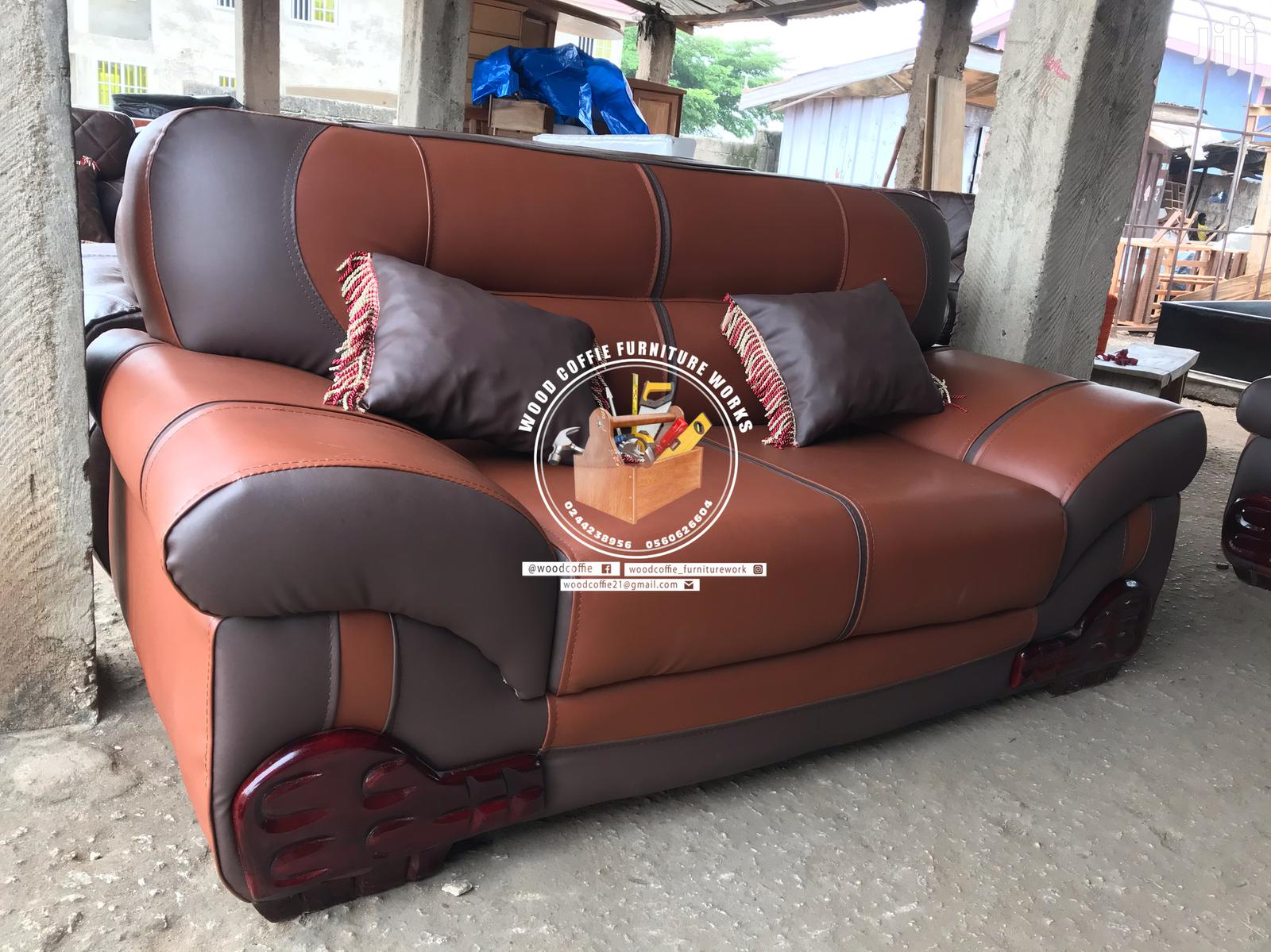 Room Leather Sofa Set | Furniture for sale in Kumasi Metropolitan, Ashanti, Ghana