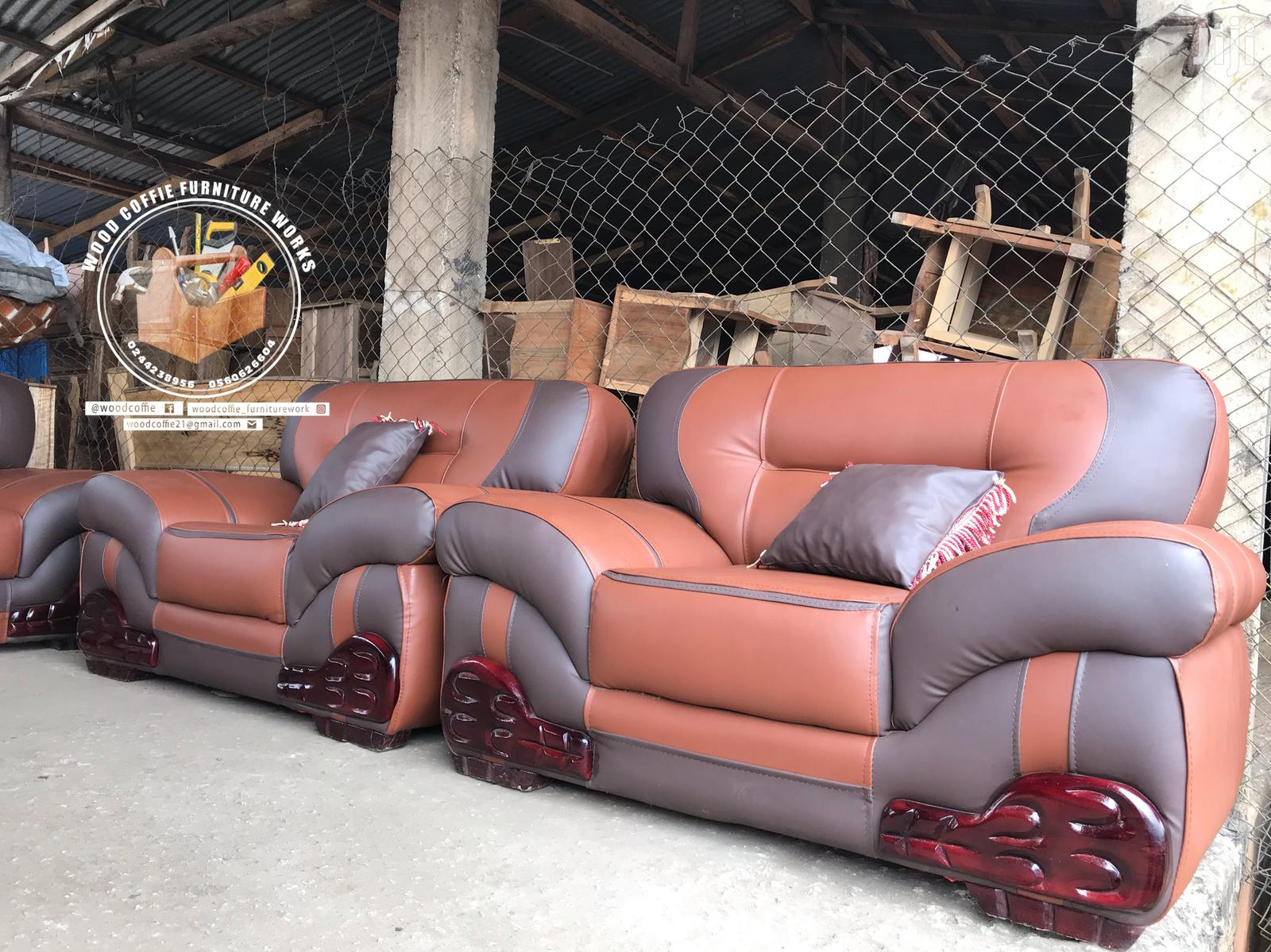 Room Leather Sofa Set