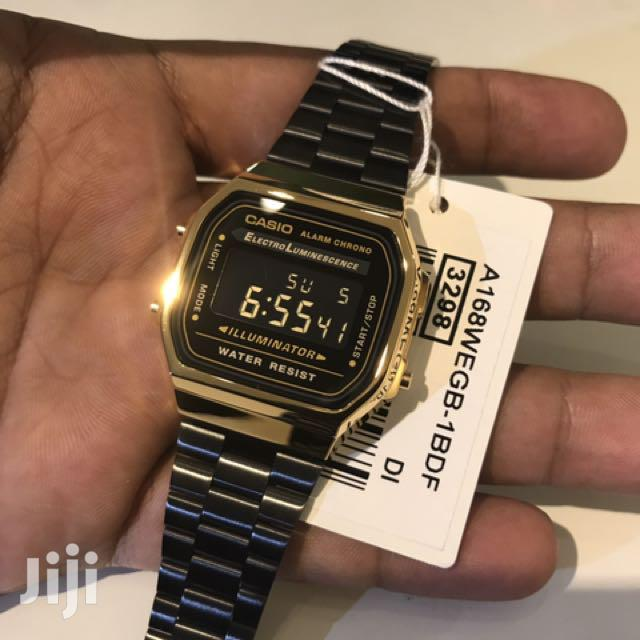 Casio Watches Black Gold
