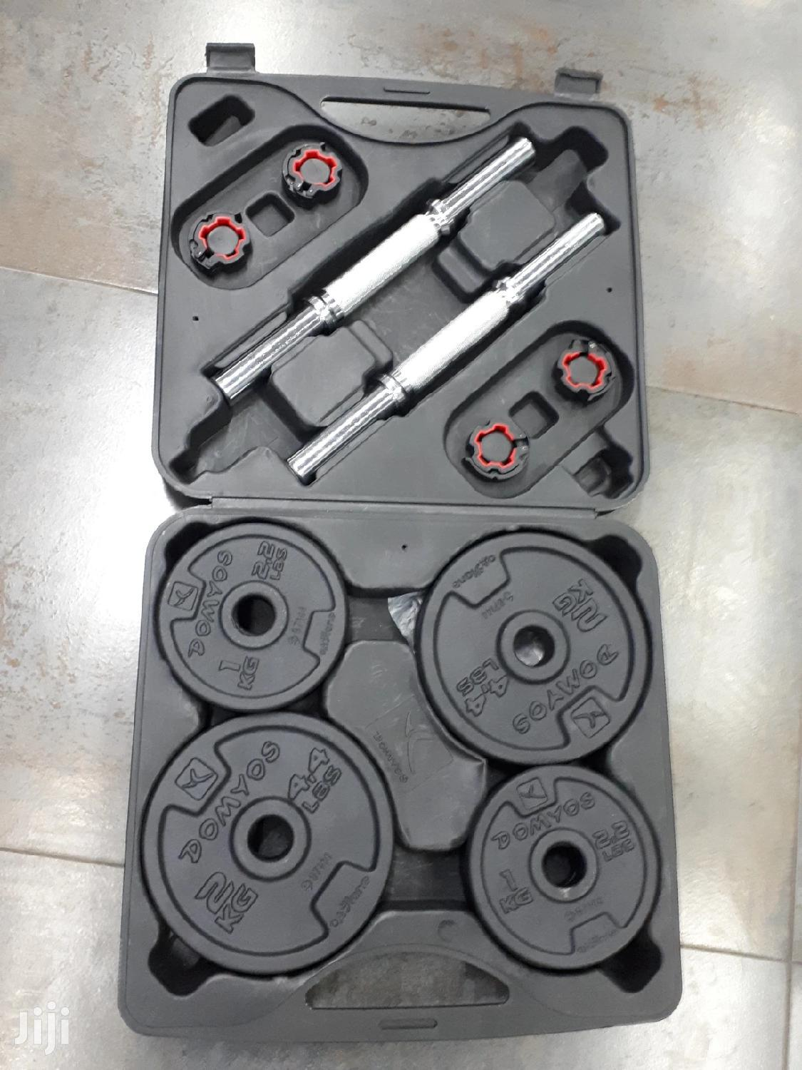 20 Kg Adjustable Dumbells in a Case   Sports Equipment for sale in Teshie-Nungua Estates, Greater Accra, Ghana