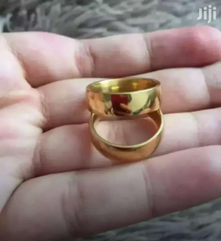 Couples Wedding Engagement Promise 18K Gold Filled Matching Ring Set | Wedding Wear & Accessories for sale in Adenta Municipal, Greater Accra, Ghana