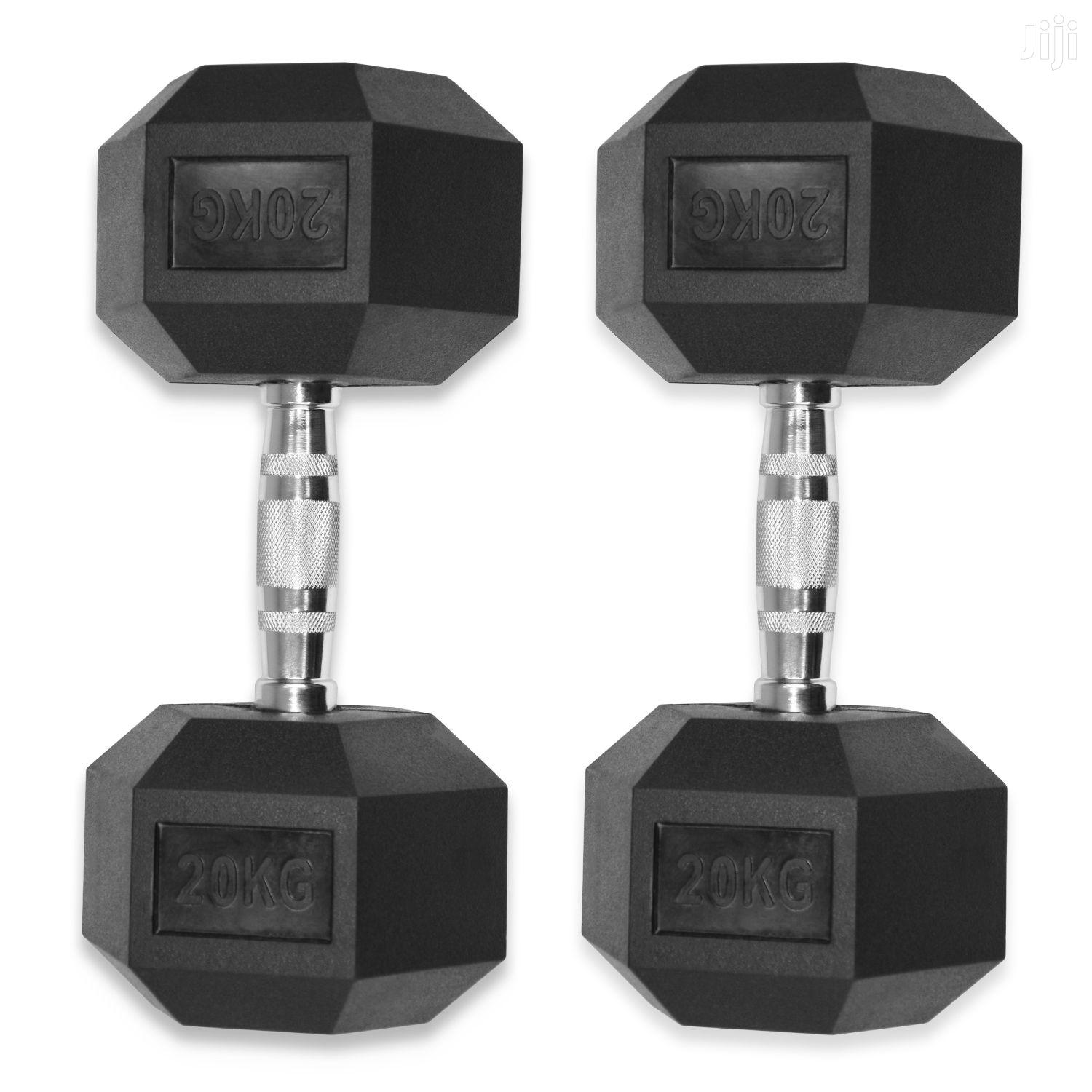 Dumbells 40kg Hex (Pair) | Sports Equipment for sale in Cantonments, Greater Accra, Ghana