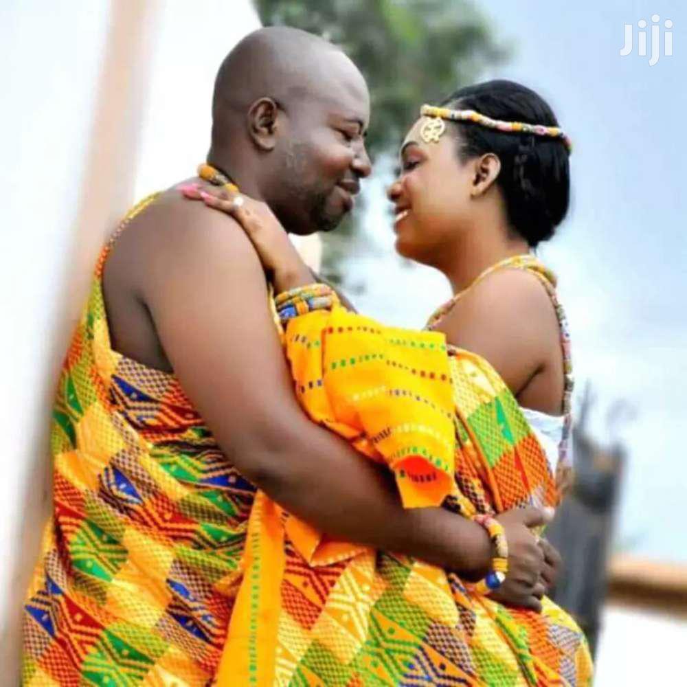 Yellow Beautiful Bawumia Kente